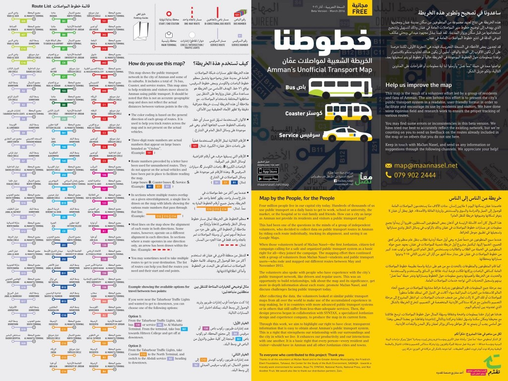 Amman's Public Transport Map - SYNTAX