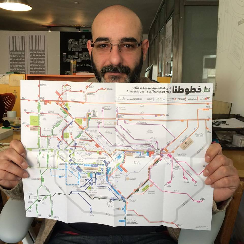 Ahmad Sabbagh Designer of Amman Transport Map