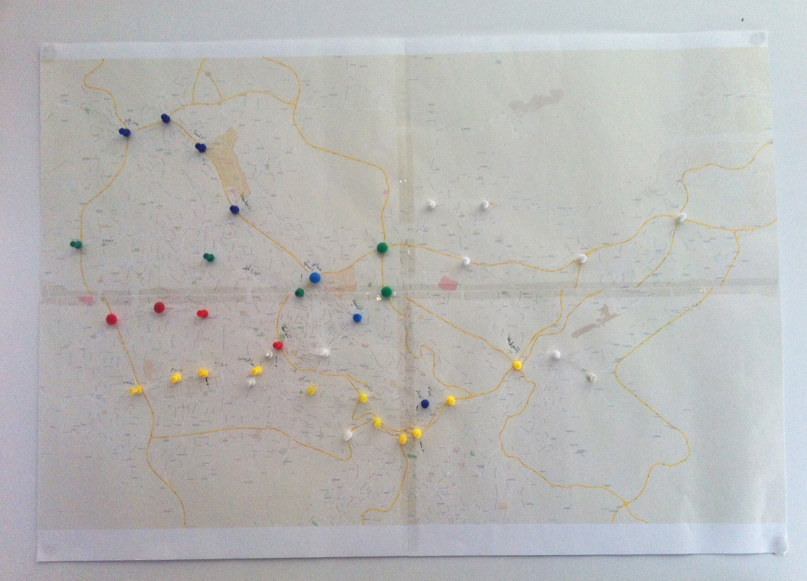 Amman Transport Map first stages